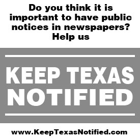 Keep Texas Notified Ad