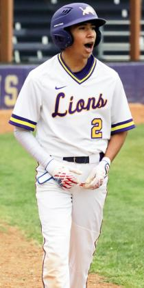 MARCO RODRIGUEZ cheers on his teammates during the Ozona Tournament on Thursday, Feb. 25, at the OHS Baseball Field. JACKIE VENEGAS | THE LION YEARBOOK