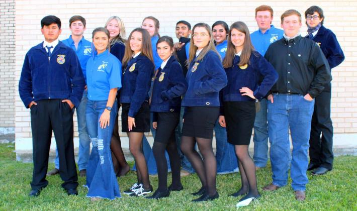 OHS FFA Students at the Concho District LDE Contest held Nov. 13 in Sonora. VICTORIA NOWELL | THE LION YEARBOOK