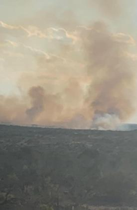 POCKET FIRE is located 40 miles south of Ozona in Val Verde County. ANDY MCCRADY | TEXAS A&M FOREST SERVICE